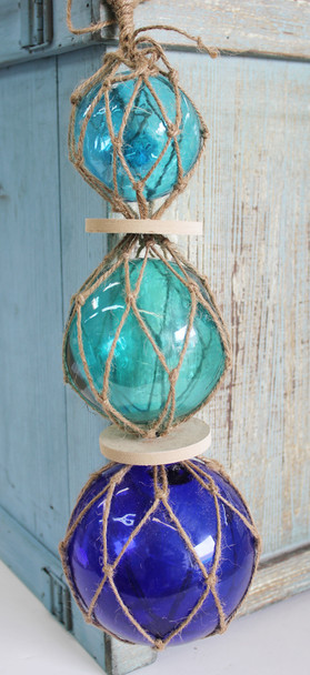 Triple Blue Glass Floats