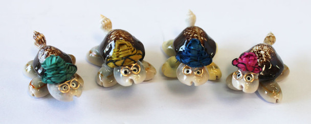 Turtles with Colored Hats