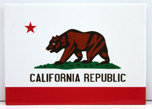 White California Republic Magnet