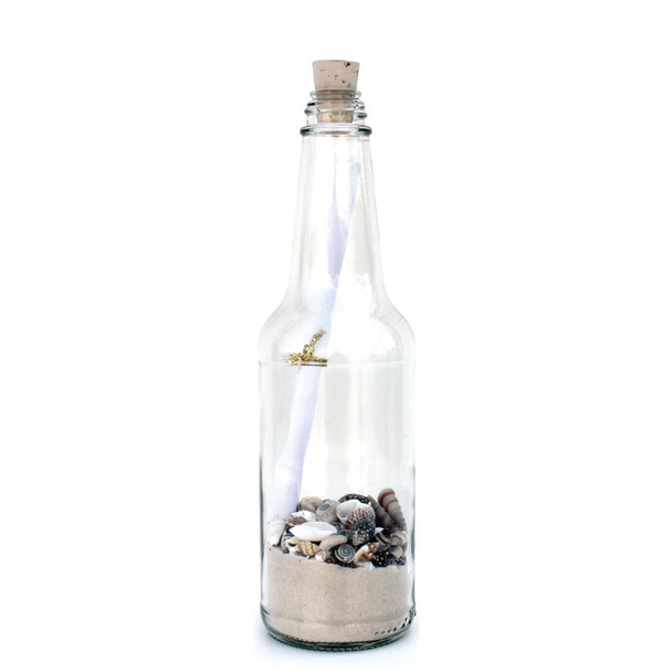 "8"" White Sand Message in a Bottle"