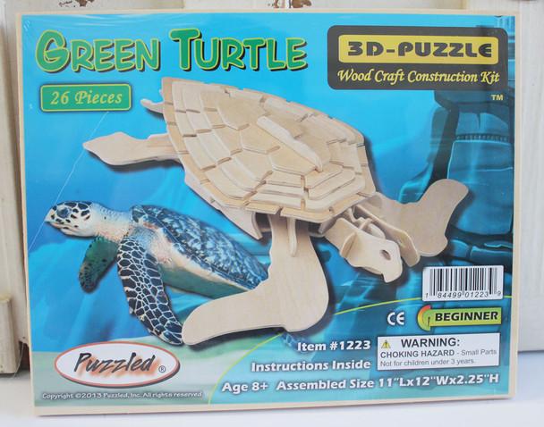 Wood Sea Turtle 3D Puzzle