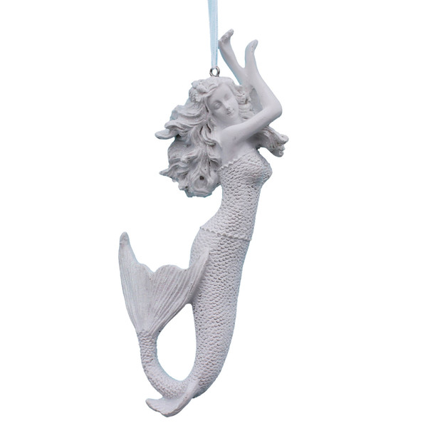 White Glitter Mermaid Ornament