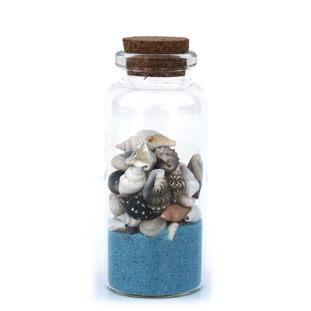 Light Blue Beach Bottle Magnet
