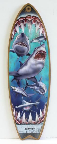 Shark Attack Surfboard Sign