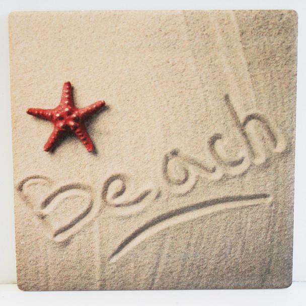 Beach in the sand coaster