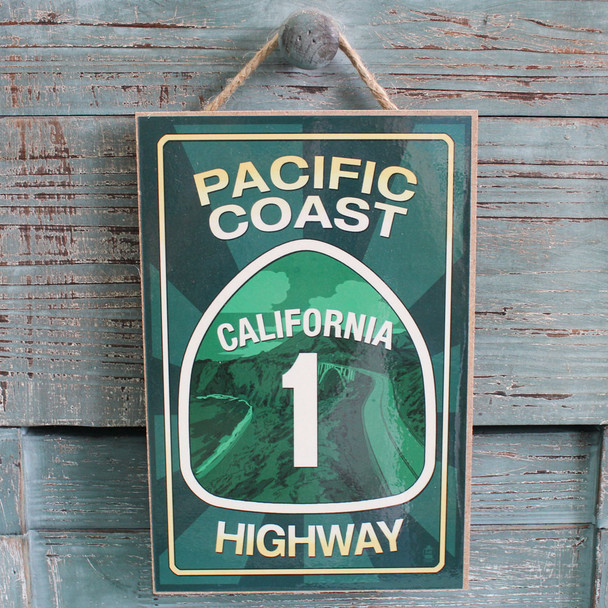 Pacific Coast Highway Wood Sign