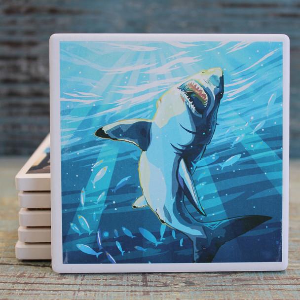 Great White Shark Coaster