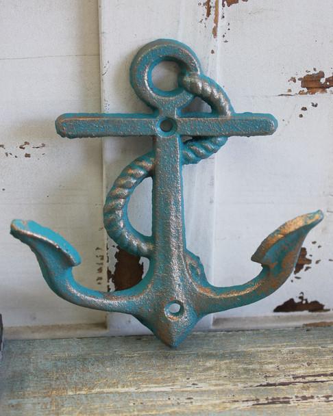 Blue & Gold Anchor Hook