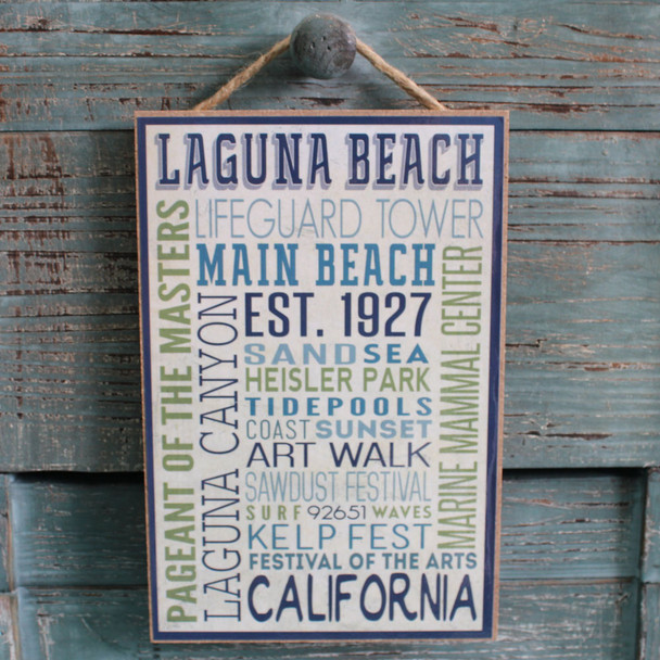 Laguna Beach Typography Sign