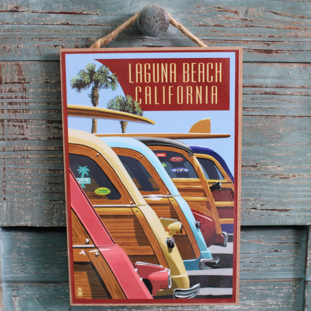Woodies Lined Up Laguna Beach