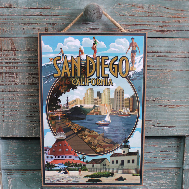 San Diego Montage Sign