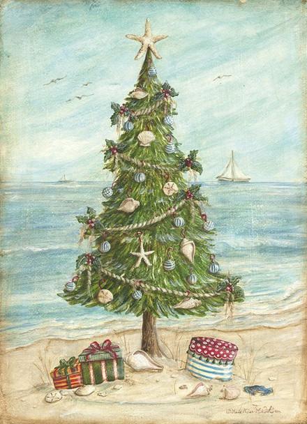 Beach Tree Christmas Card