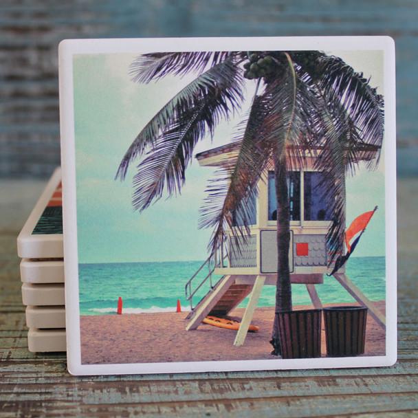 Lifeguard Shack Coaster