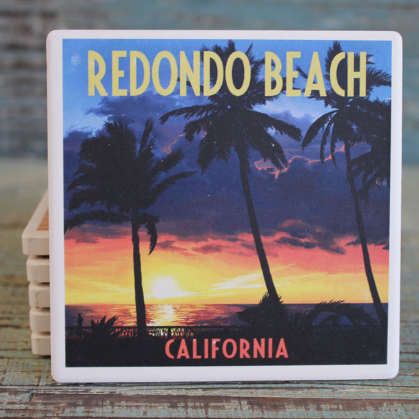 Redondo Beach Palms at Sunset