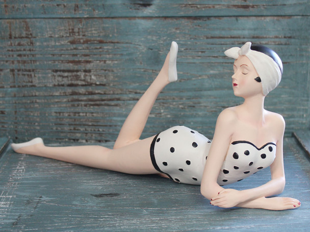Bathing Beauty in Polka Dots