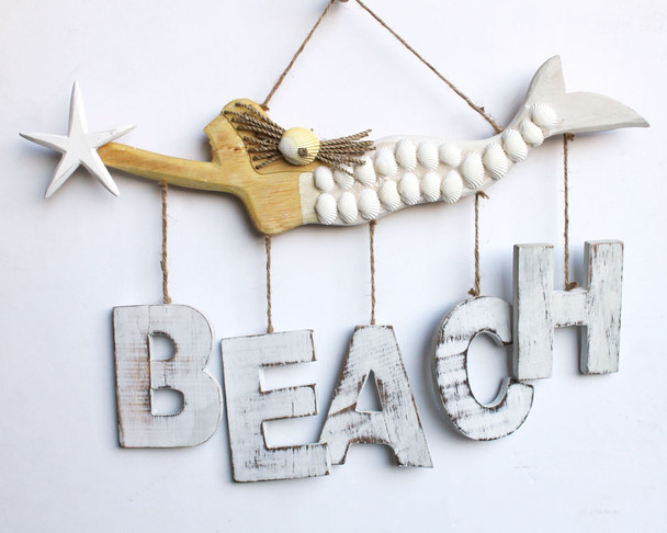 Mermaid Plaque with Beach Dangle