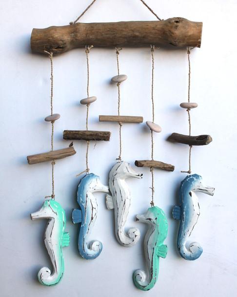 Wood Seahorse Mobile