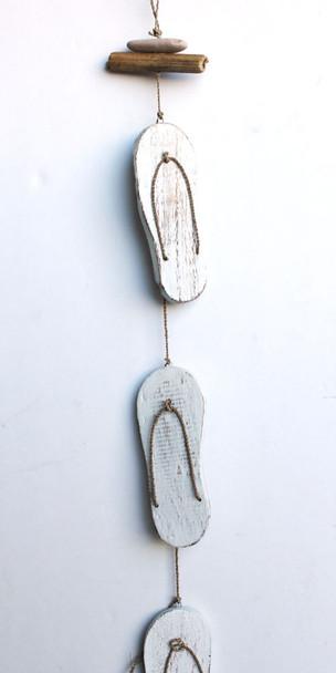 White Flip Flop Garland