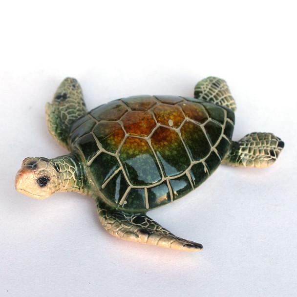 """Green 5"""" Resin Turtle Figurine"""