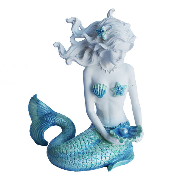 Blue Green Ombre Tail Mermaid Figure