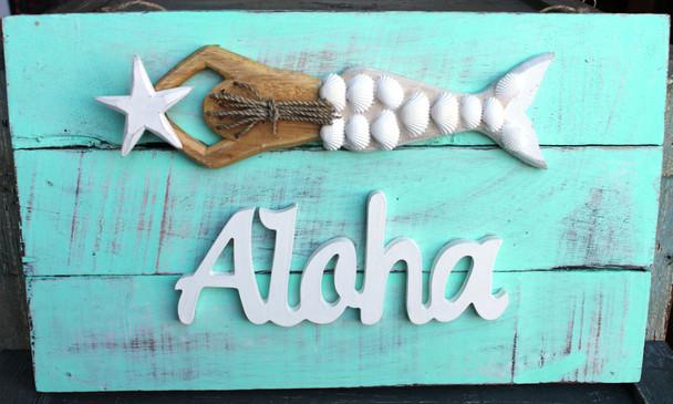Aloha Mermaid Plaque