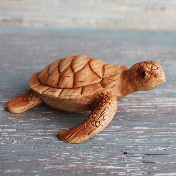 Small Wood Like Sea Turtle