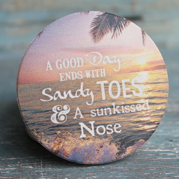 A good day ends with sandy toes & a sunkissed nose.