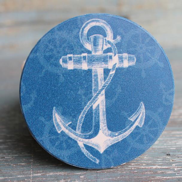 Blue Anchor Car Coaster