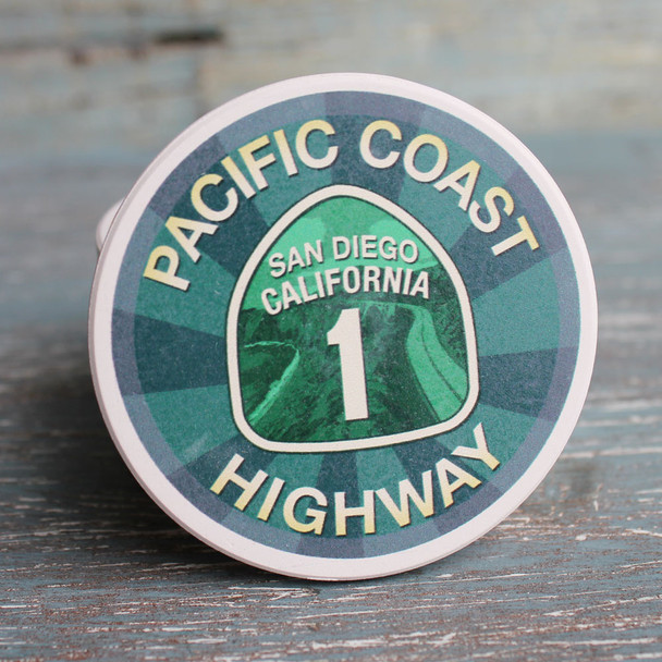 San Diego Pacific Coast Highway Car Coaster