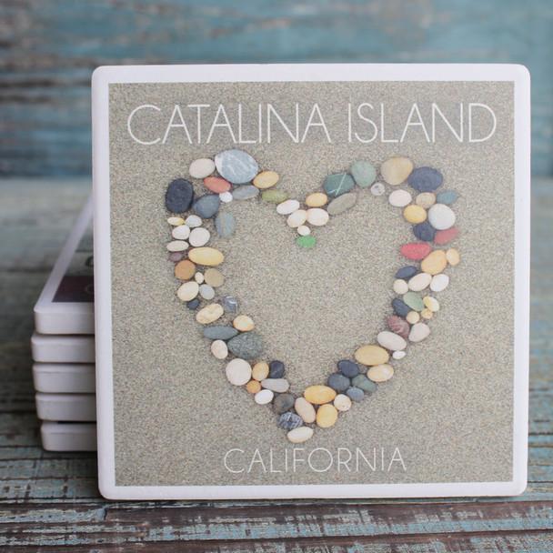 Catalina Island Stone Heart Coaster