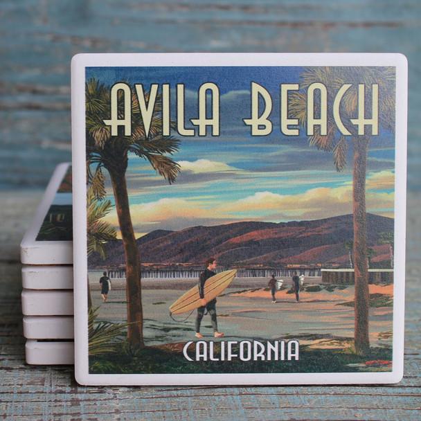 Avila Beach Surfer on the Pier Coaster