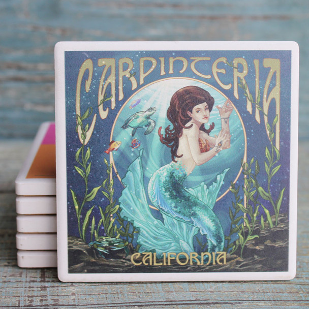 Carpenteria Blue Mermaid Coaster