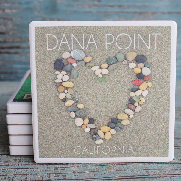 Dana Point Stone Heart Coaster