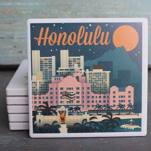 Honolulu Vintage Skyline coaster