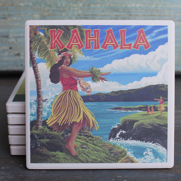 Kahala Hula Girl coaster