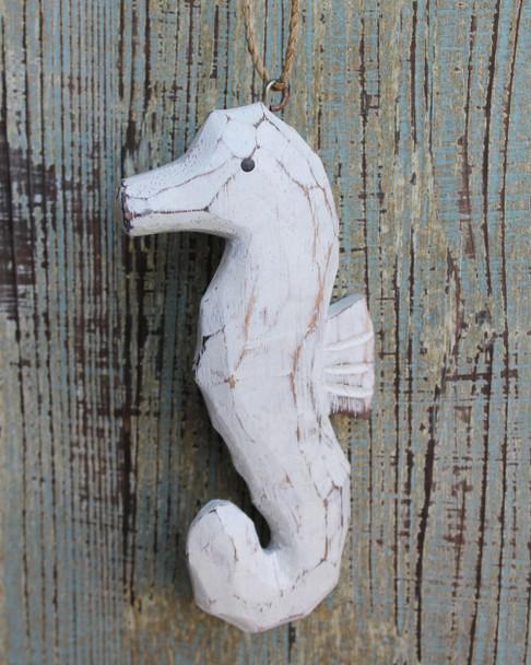 Wood Seahorse Ornament