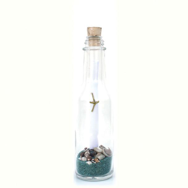 Aqua Sand Message in a Bottle