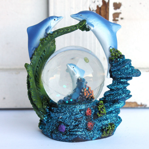 Jumping Dolphins Snowglobe