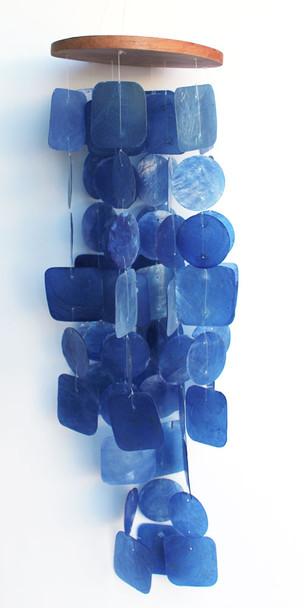 Dark Blue Capiz Chimes