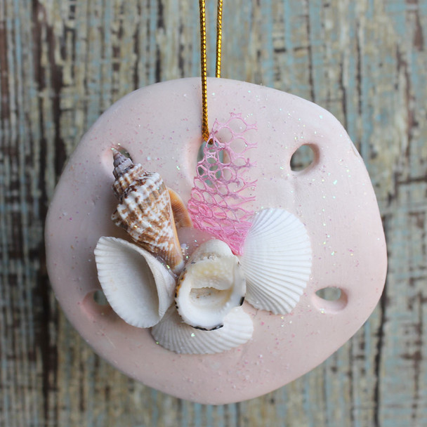 Clay Sand Dollar Collage Ornament