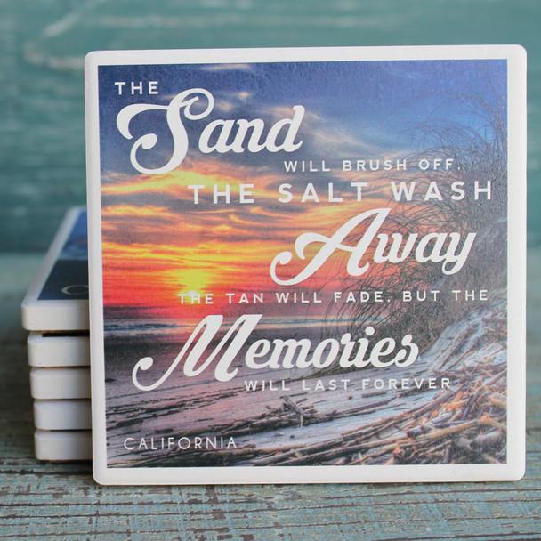 Sand, Salt & Memories California Coaster