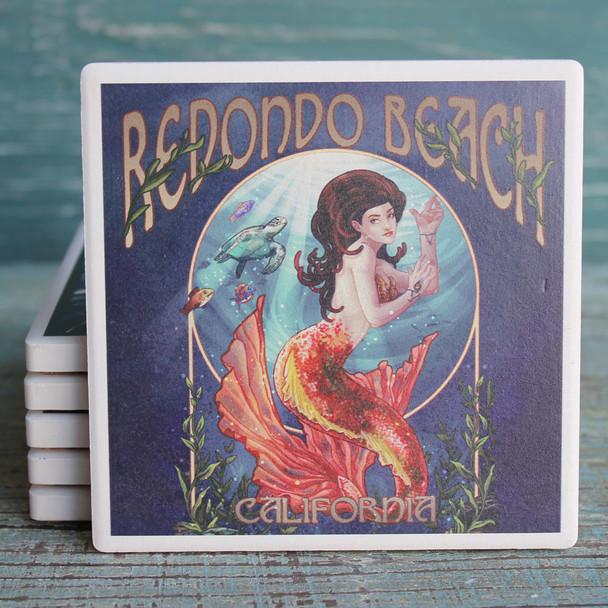 Redondo Beach Mermaid Coaster