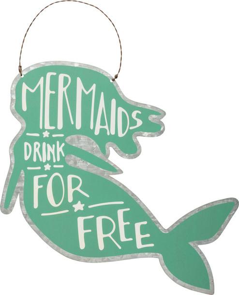 Mermaids Drink for Free Tin