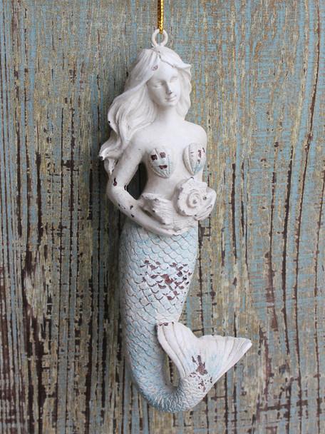 Rustic Mermaid Ornament