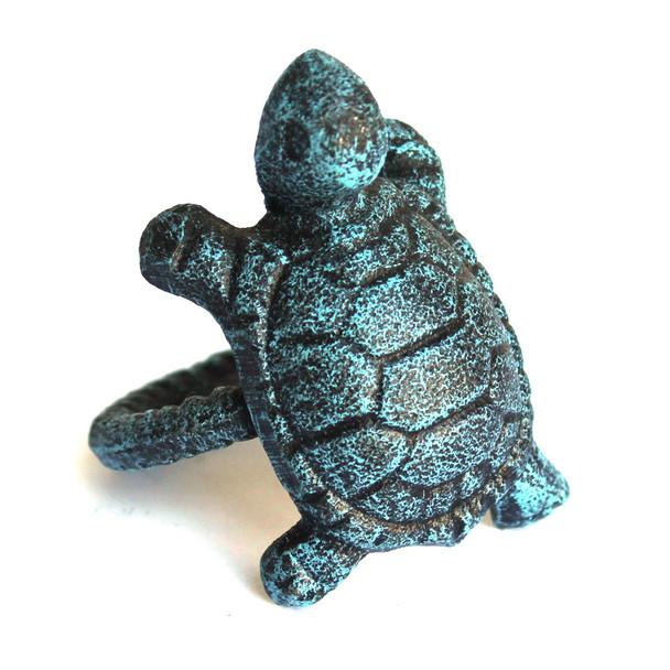 Blue Turtle Cast Iron Napkin Ring
