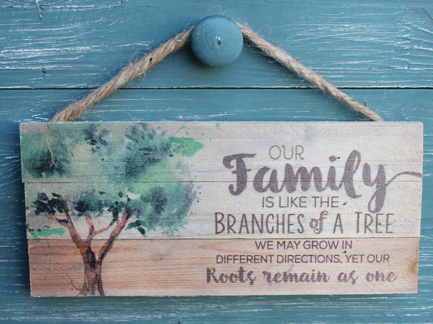 Our family is like branches of a tree