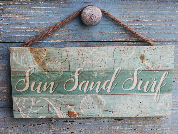 Sun, Sand, Surf Hanging Sign