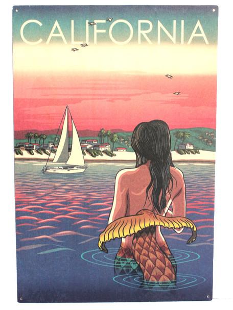 California Mermaid on Beach