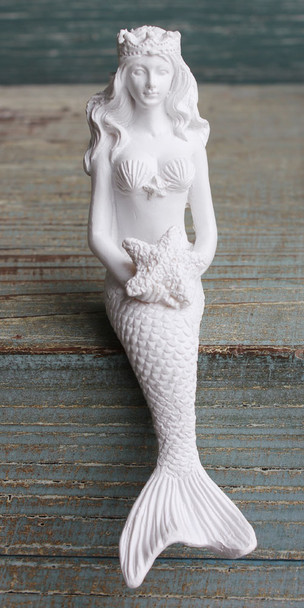 Mermaid with Crown Shelf Sitting Figurine