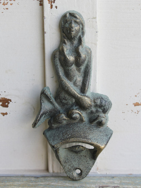 Iron Mermaid Wall-Mount Bottle Opener